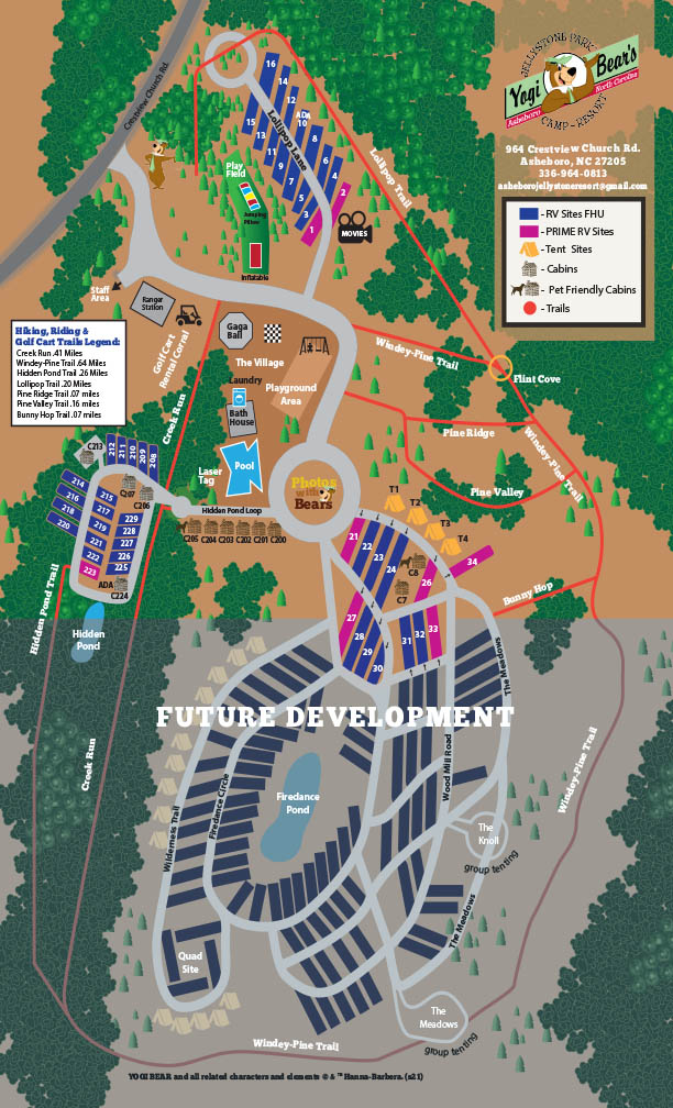 jellystone park in asheboro nc campground map